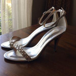 Size 7 Caparros silver heels